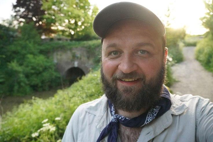 Stevie Wyatt at The Greywell Tunnel, Basingstoke Canal